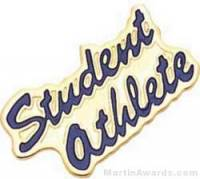 "15/16"" Etched Soft Enamel Student Athlete Chenille Letter Pin"