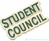 "7/8"" Etched Soft Enamel Student Council Chenille Letter Pin"
