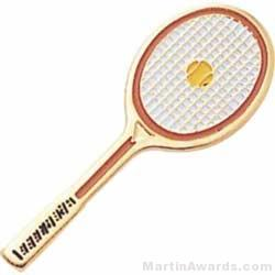 1 1/2″ Etched Soft Enamel Tennis Chenille Letter Pin 1