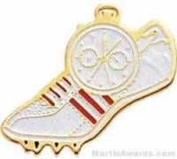 """1"""" Etched Soft Enamel Track Chenille Letter Pin"""