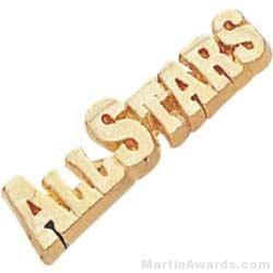 1 1/8″ All Stars Chenille Letter Insert Pins 1