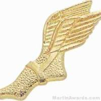 "1 3/8"" Track Winged Foot Chenille Letter Insert Pins"