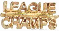 7/8″ League Champs Chenille Letter Insert Pins 1