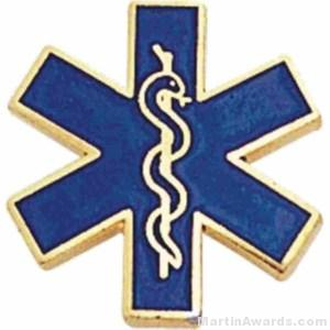 Paramedic Enameled Lapel Pins