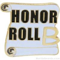 B Honor Roll Award Lapel Pin