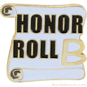 B Honor Roll Award Lapel Pin 1