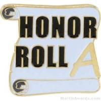A Honor Roll Award Lapel Pin