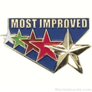 Most Improved Award Lapel Pin 1