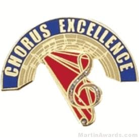 Chorus Excellence Award Lapel Pin 1