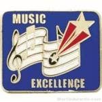 Music Excellence Award Lapel Pin