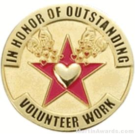 In Honor of Outstanding Volunteer Work Award Lapel Pin 1