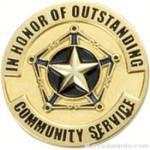 Communtiy Service Award Lapel Pin 1