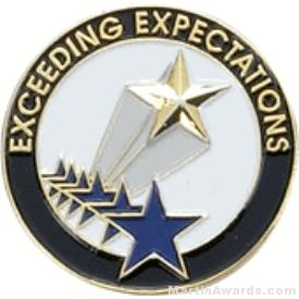 Exceeding Expectations Award Lapel Pin 1