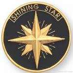 1″ Shining Star Lapel Pin 1