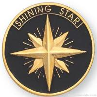 "1"" Shining Star Lapel Pin"