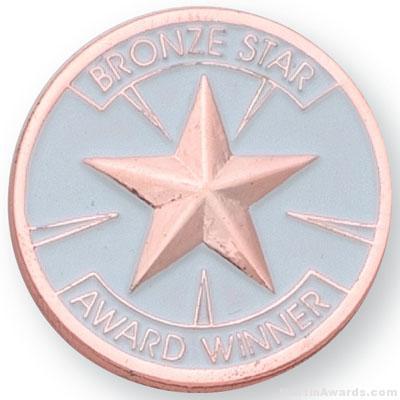 1″ Bronze Star Award Lapel Pin 1