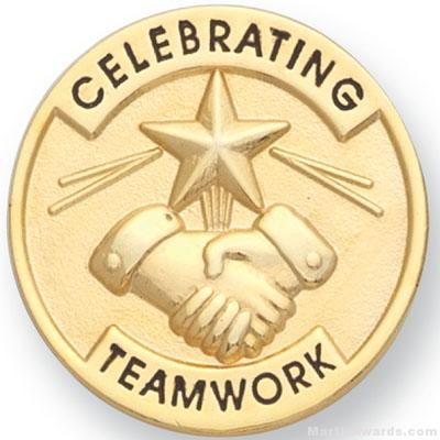 1″ Celebrating Teamwork Lapel Pin 1