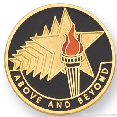 "1"" Above And Beyond Lapel Pin"
