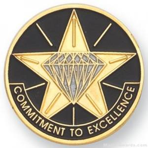 "1"" Commitment To Excellence Lapel Pin"