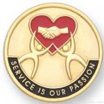 1″ Service Is Our Passion Lapel Pin 1