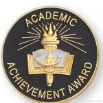 1″ Academic Achievement Award Lapel Pin 1
