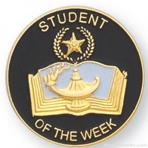 "7/8"" Student Of The Week Lapel Pin"