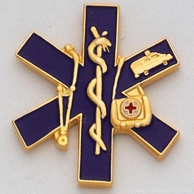 1″ Paramedic Lapel Pin 1
