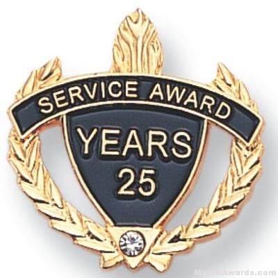7/8″ Service Award Pin set with Crystal Rhinestone Lapel Pin 1