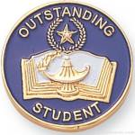 7/8″ Outstanding Student Lapel Pin 1