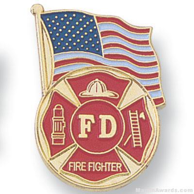 "1-1/8"" Firefighter Lapel Pin"