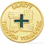 Safety Through Teamwork Enameled Lapel Pins