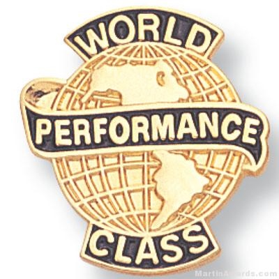 "3/4"" World Class Performance Lapel Pin"