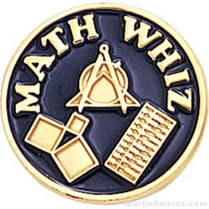 3/4″ Math Whiz Round Enameled Lapel Pins 1
