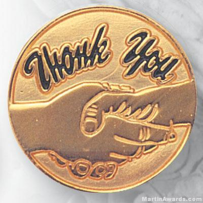 3/4″ Thank You Lapel Pin 1
