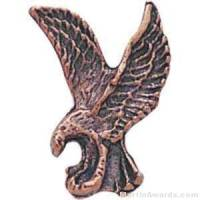 "1"" Sculptured Eagle Bronze Matte Finish Pin"