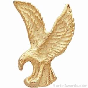 1″ Sculptured Eagle Gold Matte Finish Pin 1