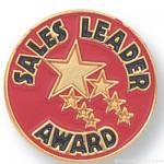 "3/4"" Sales Leader Award Lapel Pin"