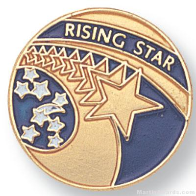 3/4″ Rising Star Lapel Pin 1