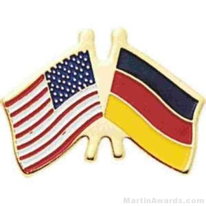 3/4″ German American Flag Pins 1