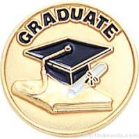 "3/4"" Graduate Round Enameled Lapel Pins"