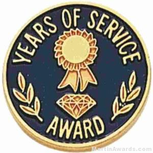3/4″ Years Of Service Enameled Lapel Pins with Regular Clutch 1
