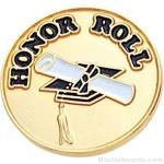 "3/4"" Honor Roll Round Enameled Lapel Pins"