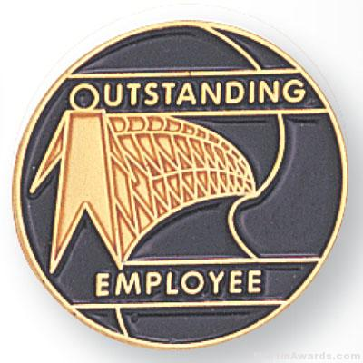 3/4″ Outstanding Employee Lapel Pin 1