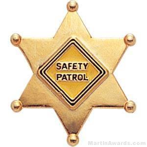 "7/8"" Safety Patrol Custom Lapel Pins"