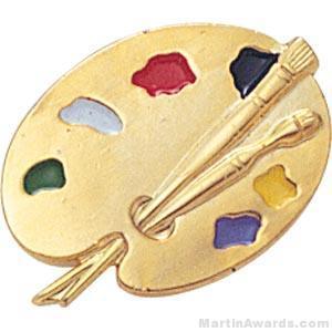 7/8″ Painting Pallet Enameled Lapel Pins 1