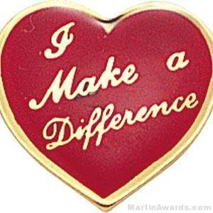 "5/8"" I Make A Difference Heart Custom Lapel Pins"