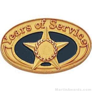 "1 1/16"" Years Of Service Enameled Lapel Pins"