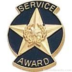 "9/16"" Service Award Enameled Lapel Pins"