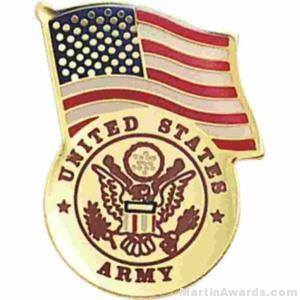 "3/4"" U.S. Army American Flag Pins"