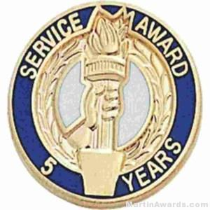 3/4″ Service Recognition Award Pins 5 Years 1
